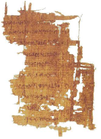 [Υλικά γραφής: πάπυρος. Φύλλο παπύρου που διασώζει ένα απόσπασμα από τον 'Αγώνα Ομήρου και Ησιόδου'.]