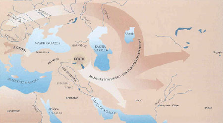 [Η κοιτίδα των ινδοευρωπαϊκών γλωσσών και οι εξακτινώσεις της.]